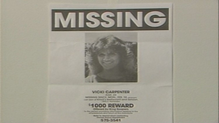 A missing persons poster for Vicki Carpenter