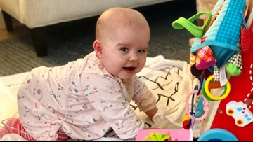 'Impossible baby' celebrates first birthday after being given 10 percent chance of survival