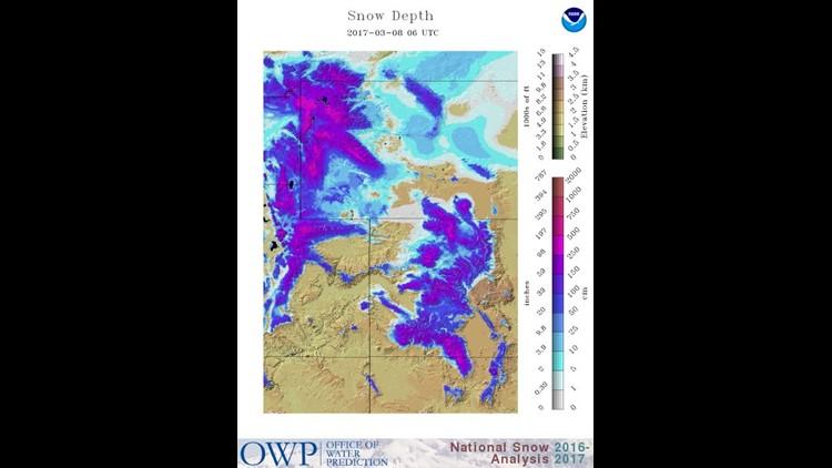 Regional Snow Depth March 2017