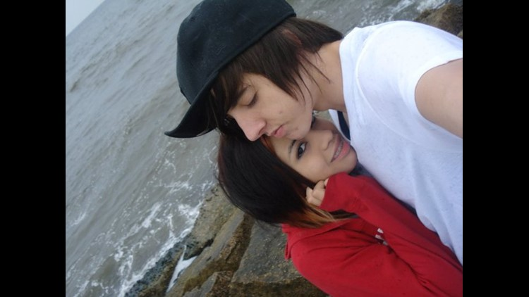 Patrick with his girlfriend Jess in Galveston.