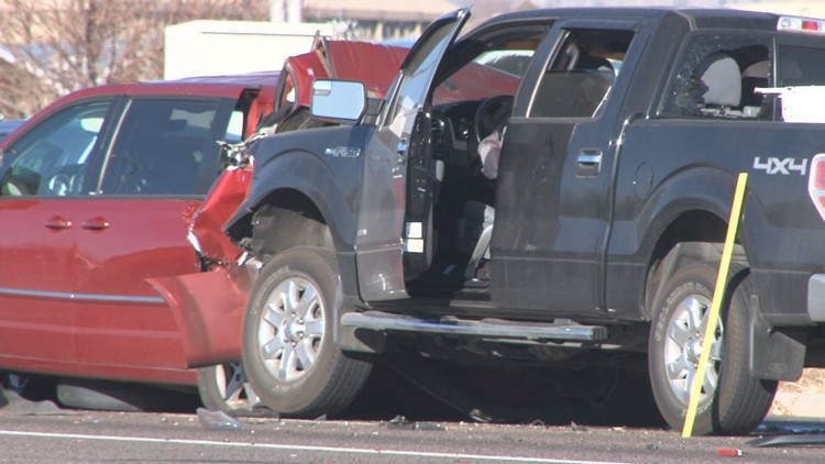 Lakewood police investigate a fatal crash on Alameda Ave. Monday morning.