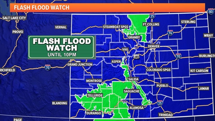 Flash Flood Warning issued for Cameron Peak and East Troublesome burn scars