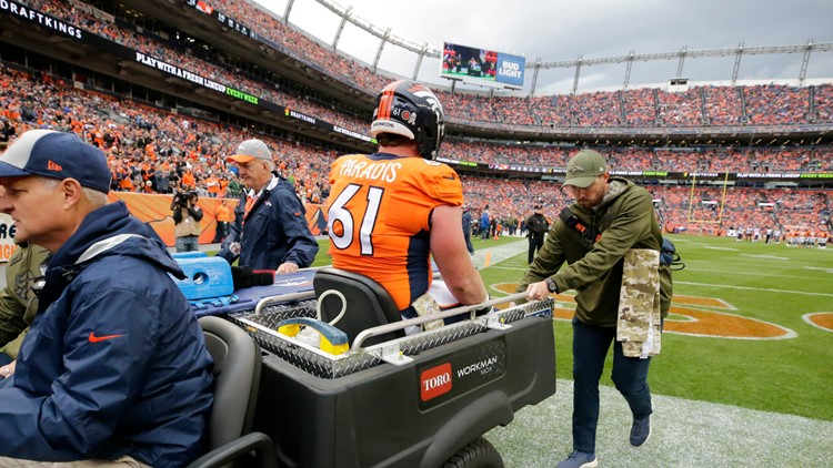 Matt Paradis  injured