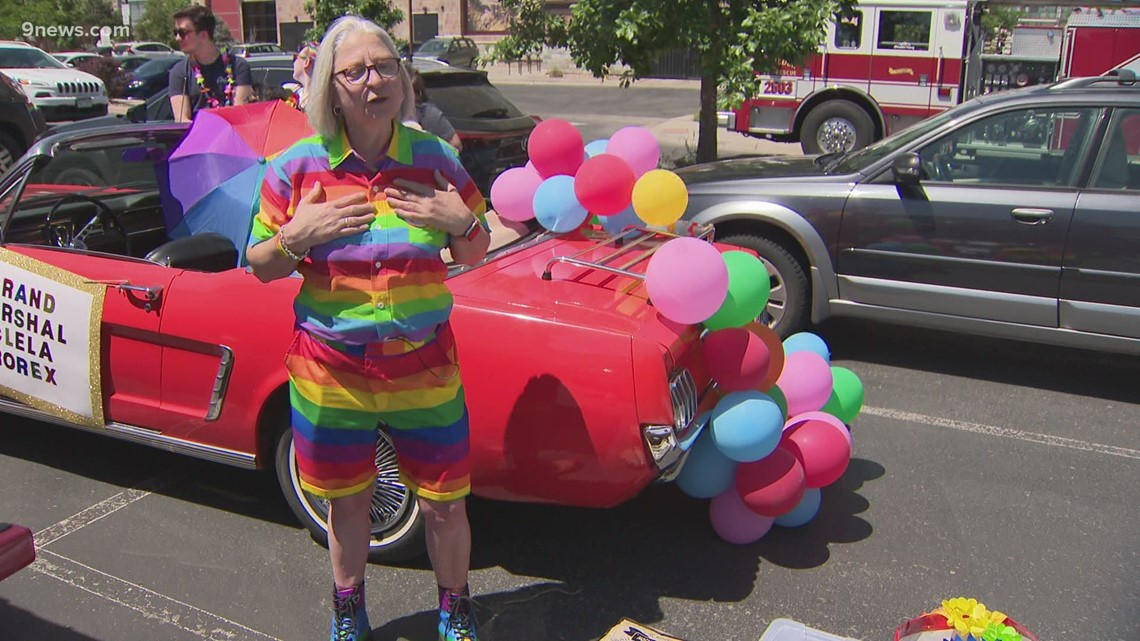 Pride Parade rolls through Boulder, while anti-police protest briefly halts event