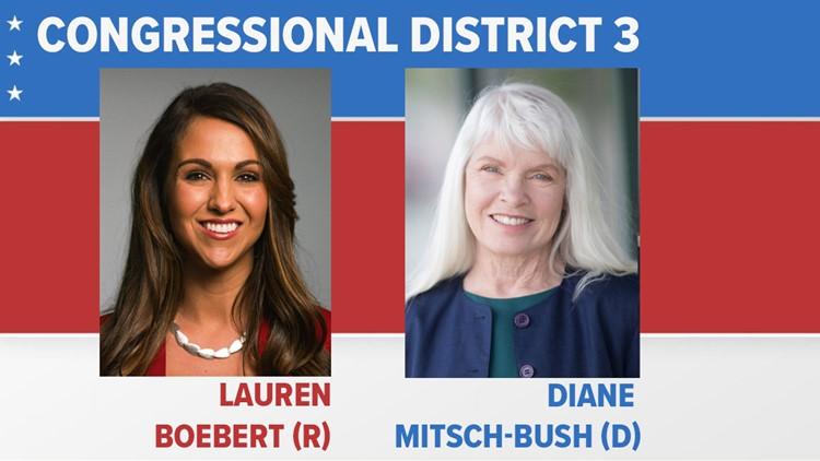 AP projection: Political newcomer Lauren Boebert defeats Democrat Diane Mitsch Bush in 3rd Congressional District