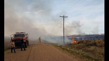 Homes evacuated due to wildfire burning in SE Colorado