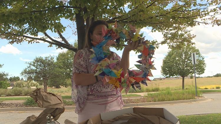 Paper crane wreath
