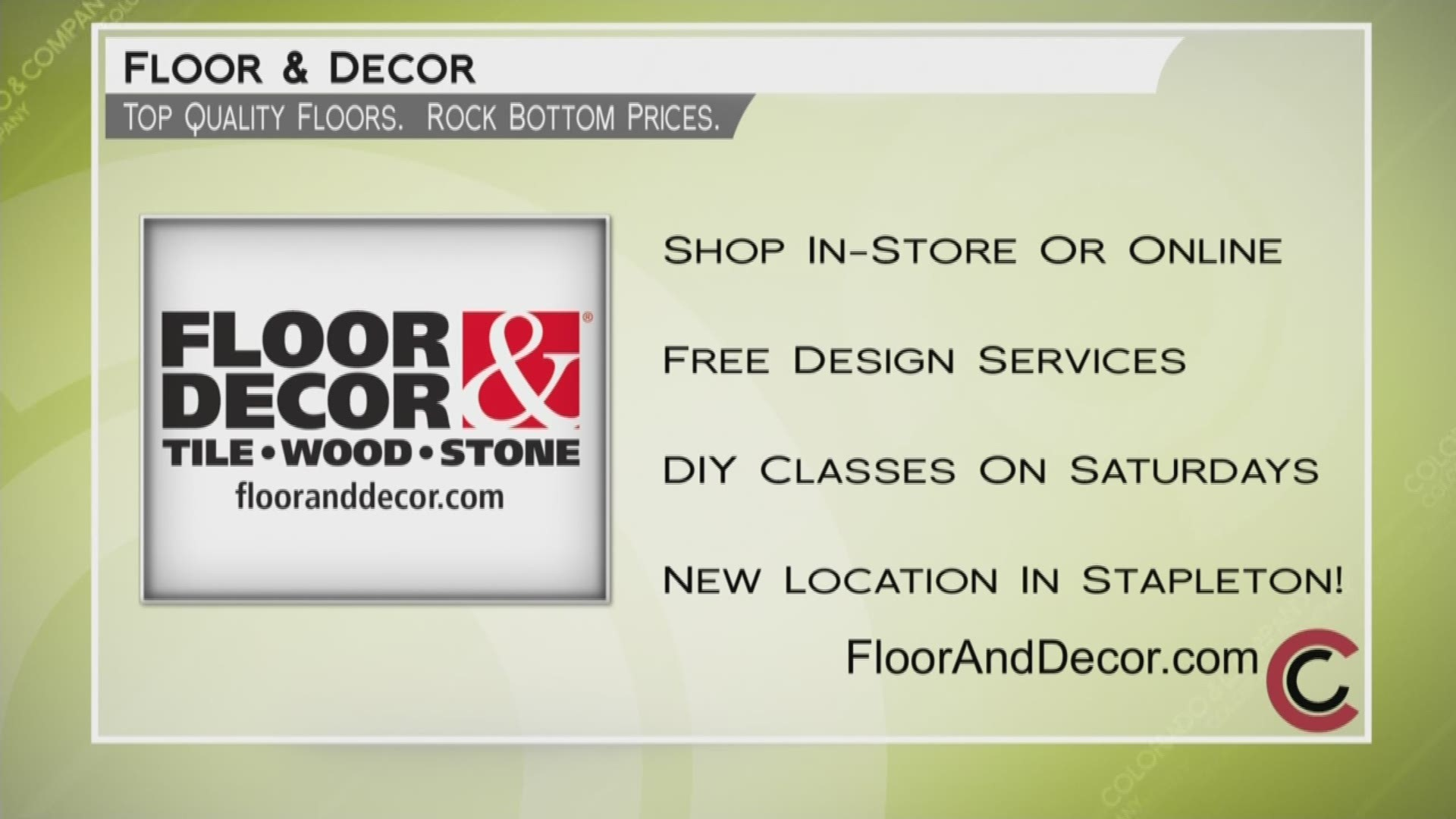 Floor Decor June 29 2018 9news