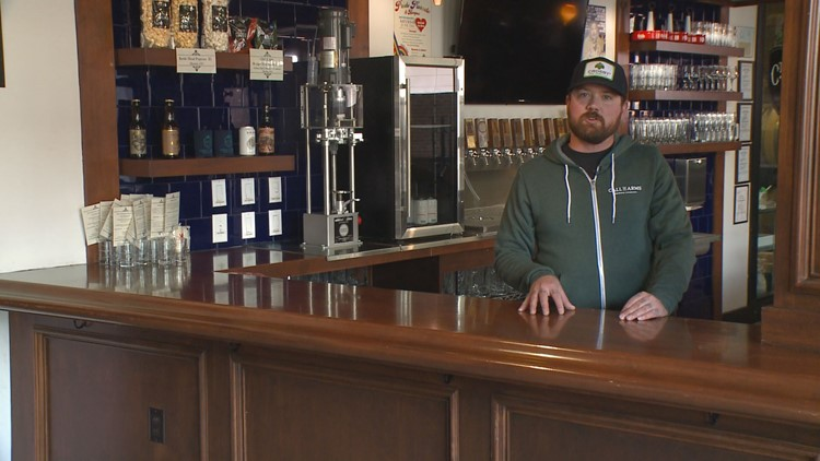 John Cross, co-owner of Call to Arms Brewing