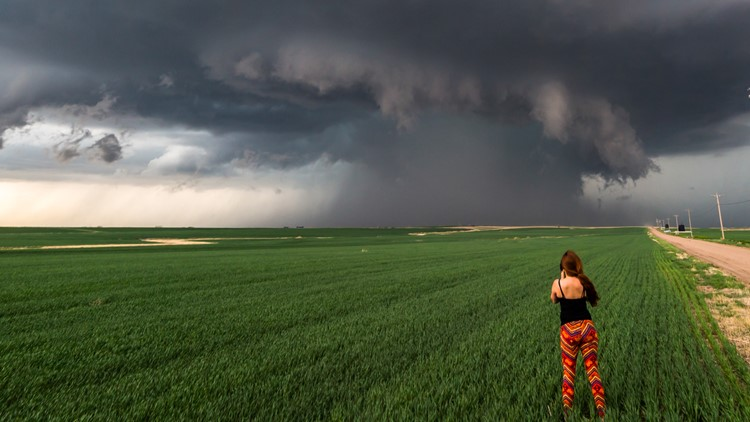 'There's just no place I'd rather be': How 2 women found their passion for storm chasing