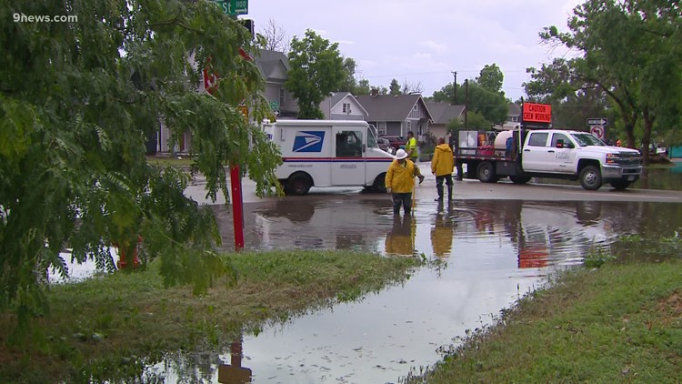 Water covered roads, poured into Greeley buildings during heavy rains