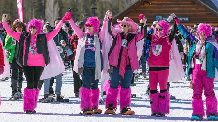 The Frisco Nordic Center hosted the 15th Annual Snowshoe for the Cure in partnership with Susan G. Komen Colorado.