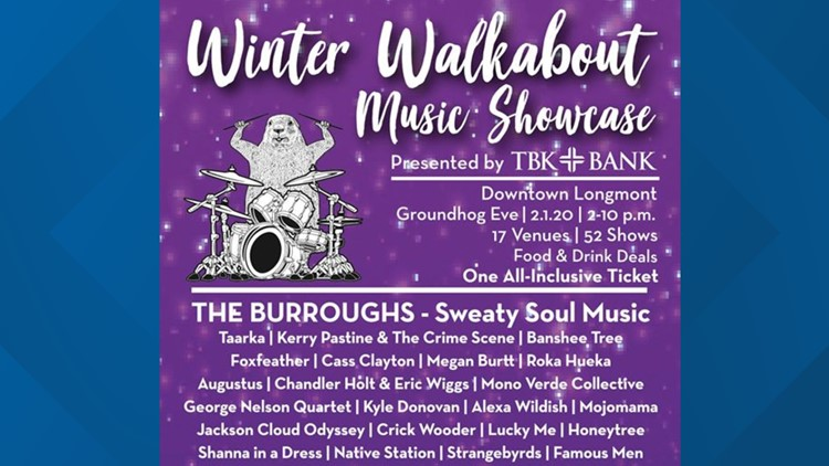 Longmont Downtown Development Authority Winter Walkabout Music Showcase