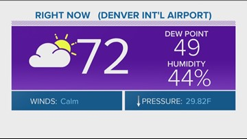 Afternoon storms caused delays at DIA, storms moving out after 10 p.m.