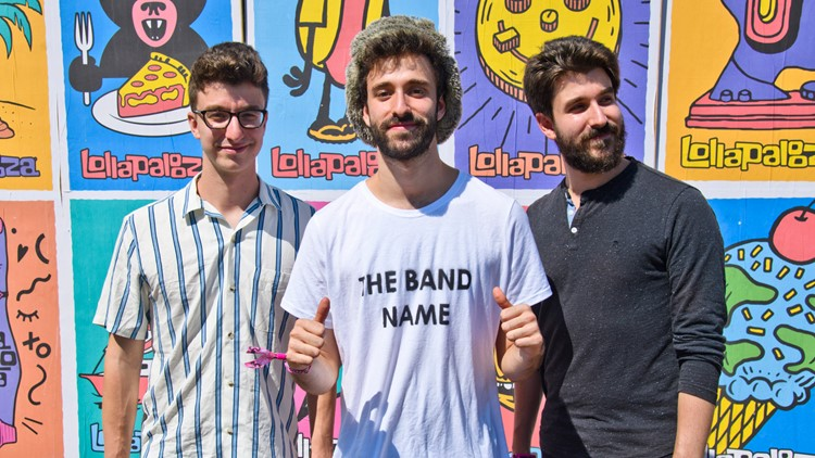 Ryan Met, left, Jack Met, center, and Adam Met, right, of AJR