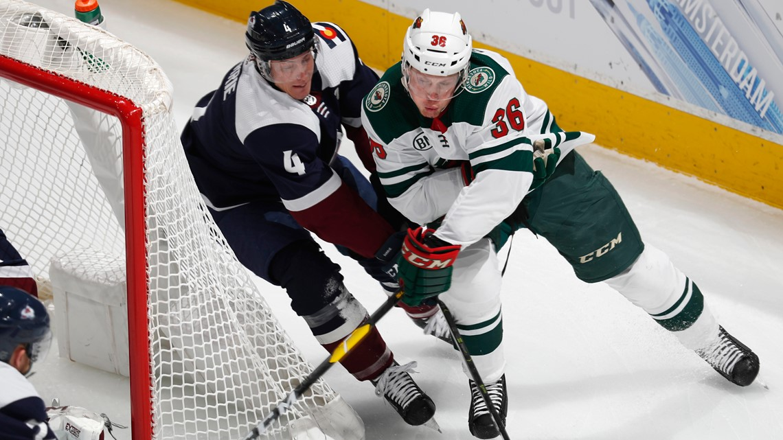 MacKinnon and the Avalanche visit the Wild