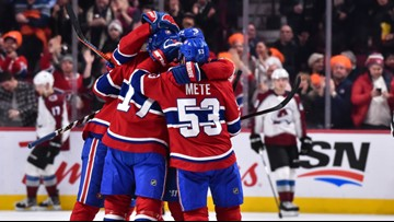 Avalanche drop third straight game after 3-0 loss to Canadiens