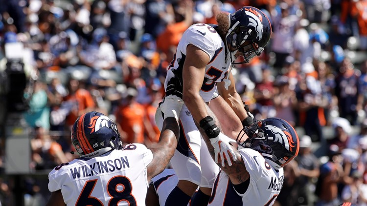 Broncos Chargers Football Phillip Lindsay