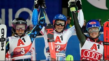 Vlhova wins 2nd straight World Cup slalom, Shiffrin 3rd