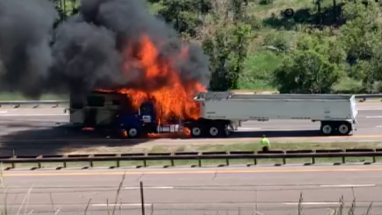 I-70 open westbound after RV catches fire, forces closure in Jefferson County