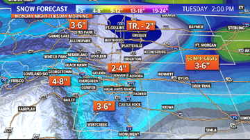 INTERACTIVE RADAR | Snow returns to the Front Range Monday evening