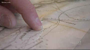 Gold Rush maps tell the early story of the Centennial State