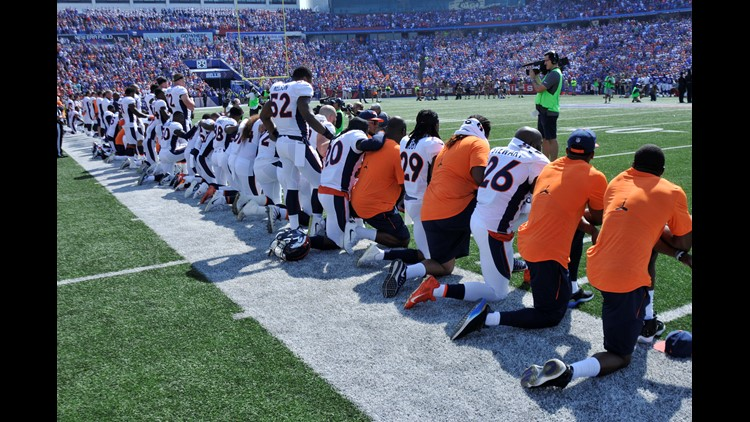 Kneeling for anthem could be 15-yard penalty, NFL owners