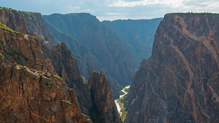 Landscape of the Black Canyon of the Gunnison with the Gunnison