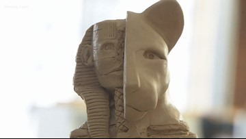Snow sculptor argues that  Great Sphinx was altered from original carving
