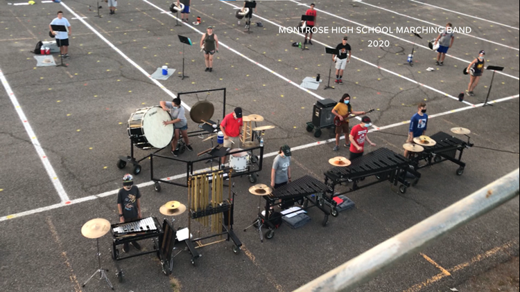 The Pride of Montrose marching band overcomes distance and adversity