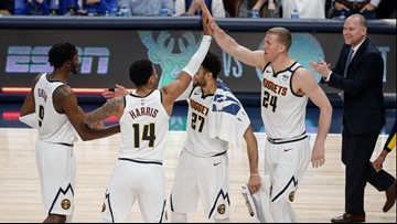 Jokic scores 33 to lead Nuggets past Mavericks 107-106