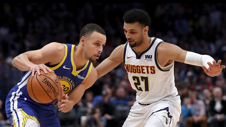 Warriors use NBA-record 1st quarter to rout Nuggets 142-111