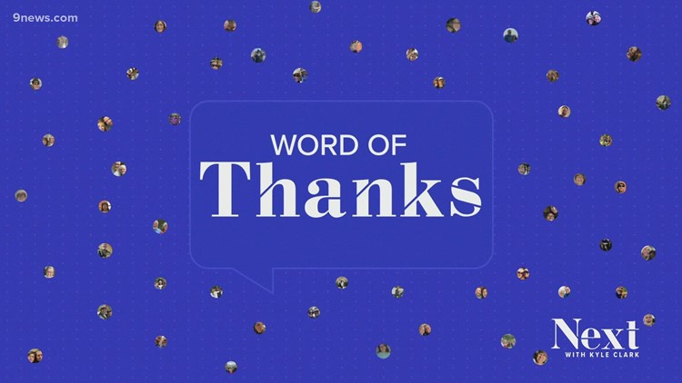 A 'Word of Thanks' from Next