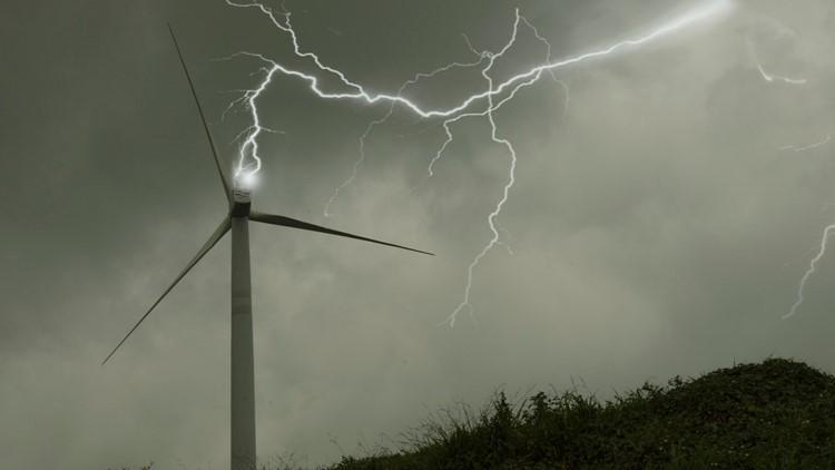 Wind turbine strike