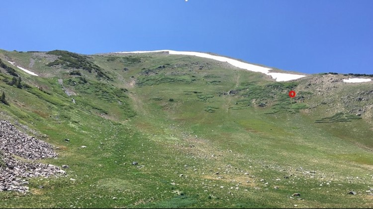 The location of the device on Peak 7 in Summit County. (Photo: Summit County Sheriff's Office)
