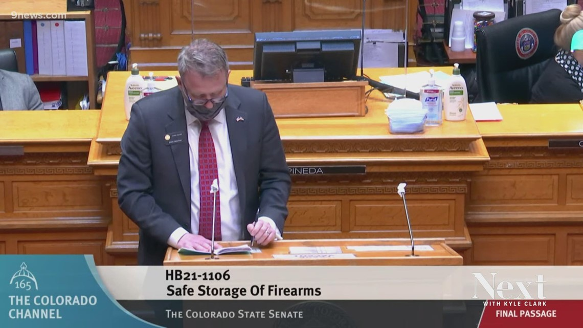 Colorado state senator gets emotional sharing person support for gun storage bill