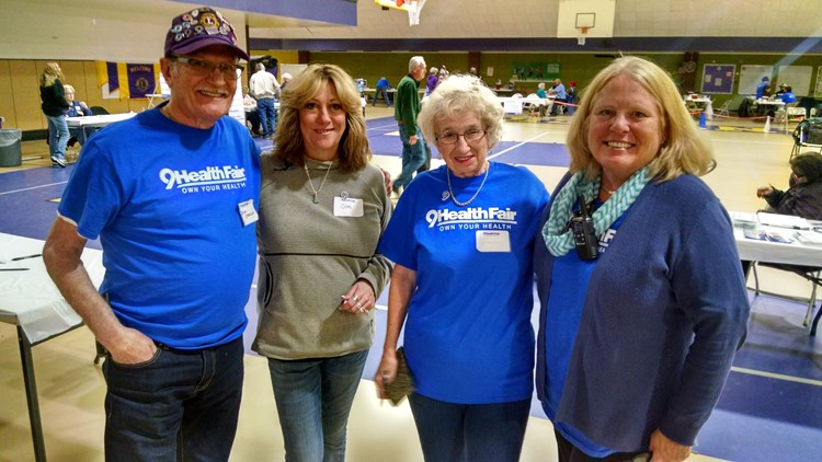9Health Fair Volunteers in Leadville