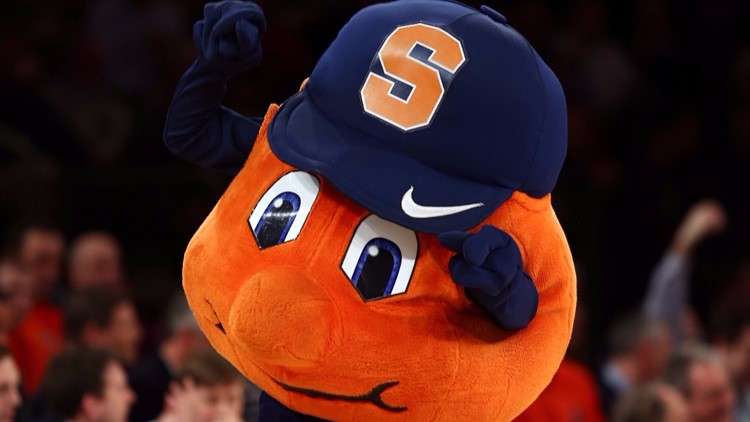 Otto, the mascot for the Syracuse Orange (Photo by Elsa/Getty Images)