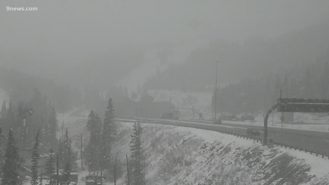 Colorado sees snow and rain Thursday afternoon