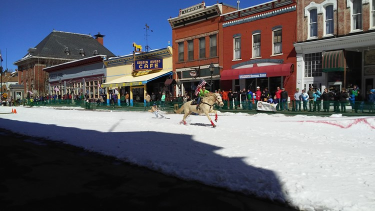 Each winter, thousands of people come to Leadville to experience the town's signature event: ski joring.