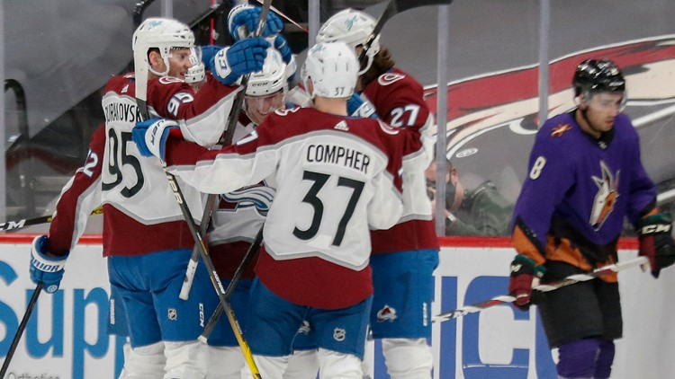 Avalanche beat Coyotes 6-2, sweep 2-game series