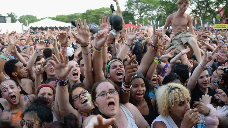 At least 20 people were taken to hospitals for heat-related illnesses at a Warped Tour concert Tuesday, authorities said.