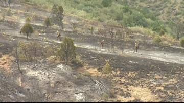 Deer Creek Canyon Park Fire 100% contained, believed to be human-caused