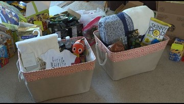 Littleton family delivers 45 care baskets to the NICU in honor of their son