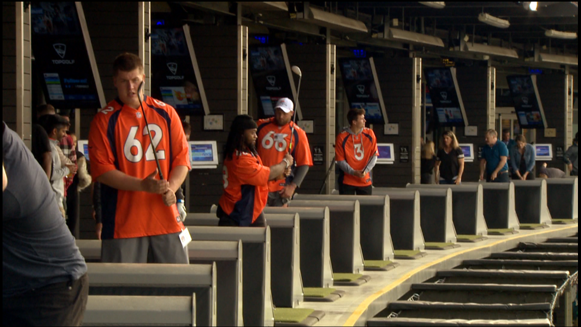 Broncos rookies visit Topgolf for charity