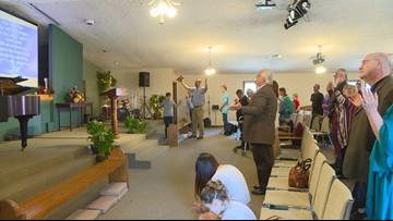 Days after devastating vandalism, church holds Easter Sunday service