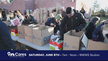 9Cares Colorado Shares food drive on June 8