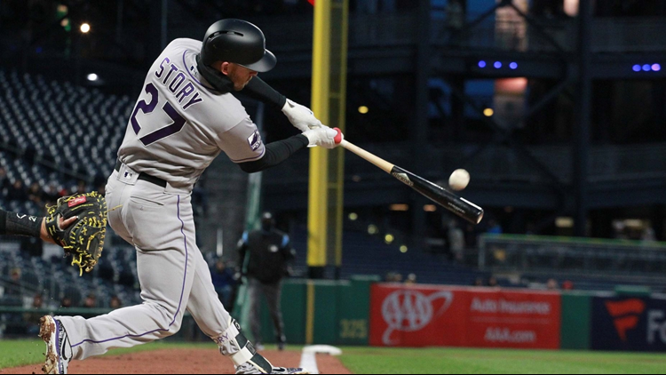 Trevor Story drilled a three-run home run, German Marquez pitched six effective innings and the Colorado Rockies kept their road surge going with a 6-2 win over the Pittsburgh Pirates on Monday night.