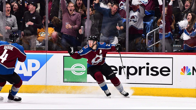 Nathan MacKinnon scored twice and the Colorado Avalanche held off the Predators 5-3 in Game 3 on Monday night to pull to 2-1 in the first-round series.