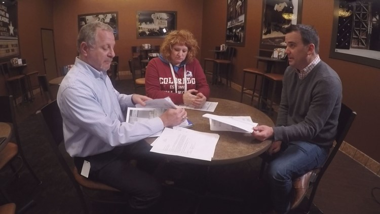 Dave and Debra Altman review surprising medical bills with 9Wants to Know investigative reporter, Chris Vanderveen